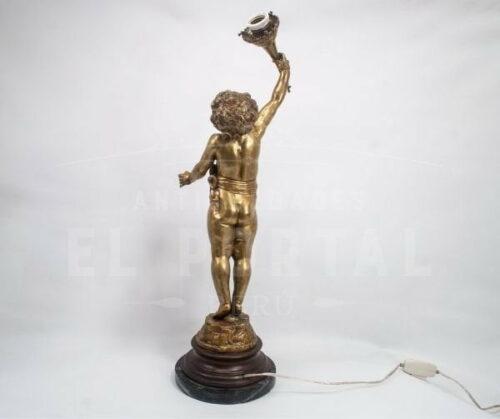 Lámpara de mesa de bronce | 1