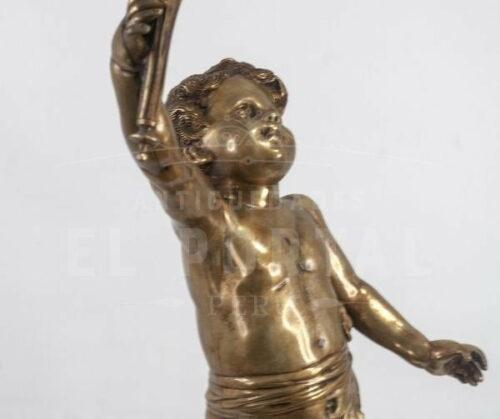 Lámpara de mesa de bronce | 2