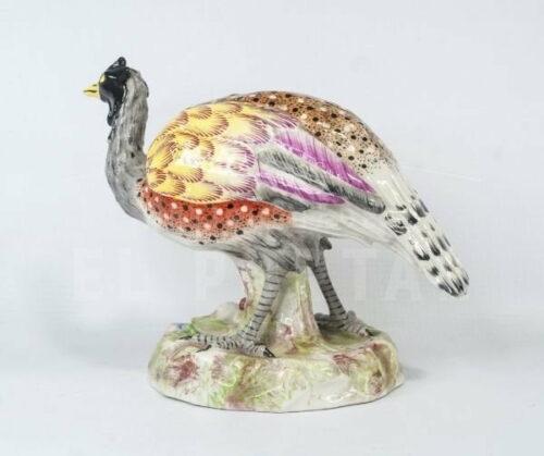 Figura de ave Emú de porcelana de París | 5