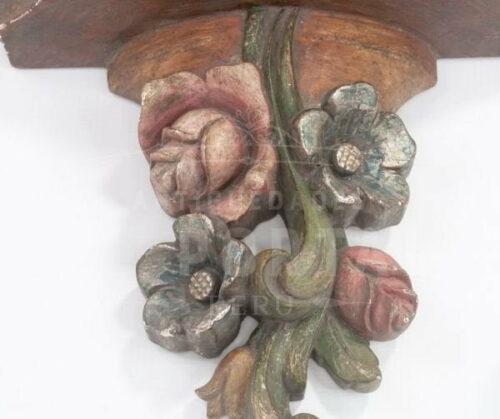 Repisa de madera tallada y policromada | 5