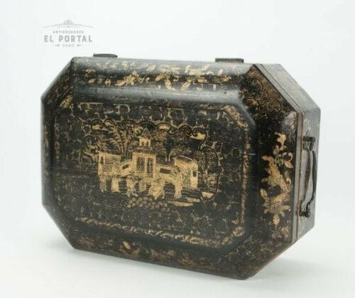 Cofre costurero chino de madera laqueada | 3
