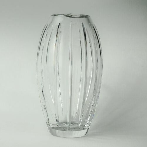 florero de cristal de bohemia