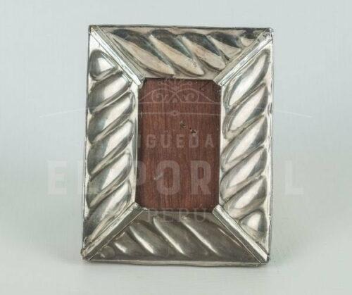marco de foto de plata