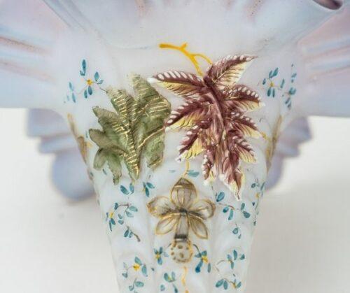 Cartucho de cristal opalina pintado a mano | 4
