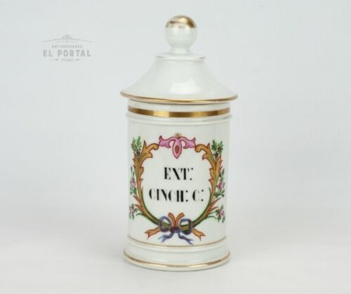 Conservera de farmacia de porcelana EXT CINCHC