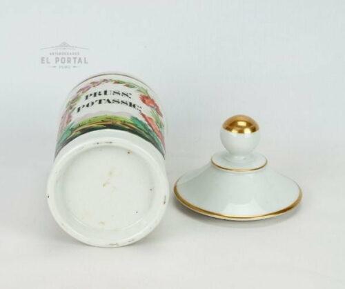 Conservera de farmacia de porcelana PRUSS POTASSIC
