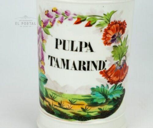 Conservera de farmacia de porcelana PULPA DE TAMARIND