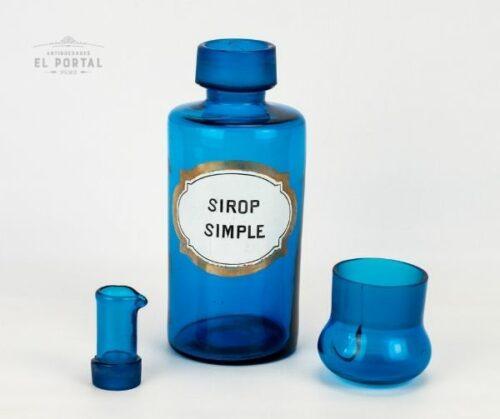 Botella de botica de vidrio francés | 2