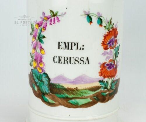 Conservera de farmacia de porcelana EMPL: CERUSSA | 1