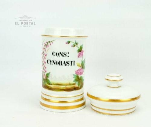 "Conservera de botica de porcelana francesa ""CONS-CYNOBASTI"" | 1"