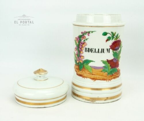 Conservera de botica de porcelana Mehun France   1