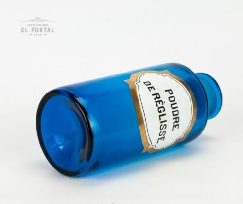 Pomo de farmacia de vidrio azul | 1