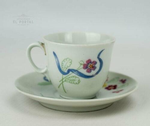 Taza y plato de porcelana Limoges | 3