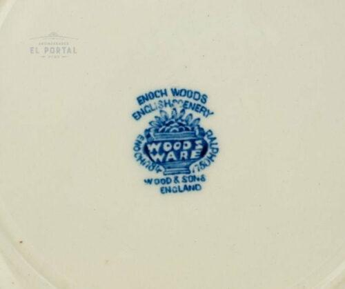 Plato de porcelana azul y blanco Enoch Woods & Sons | 2