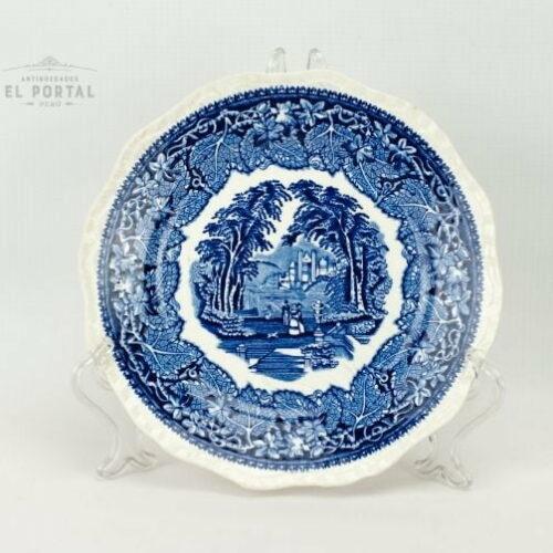 Plato Azul y blanco Masons VISTA 1950