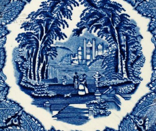 Plato Azul y blanco  Masons VISTA Circa 1950 | 1
