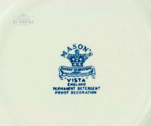 Plato Azul y blanco  Masons VISTA Circa 1950 | 4