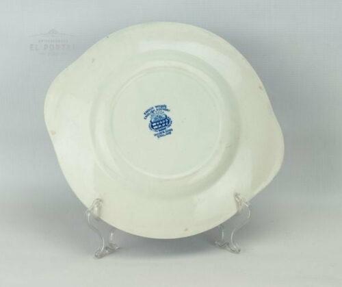 Plato azul y blanco Enoch Woods | 1