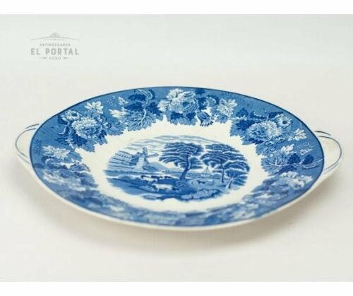 Plato azul y blanco Enoch Woods | 2