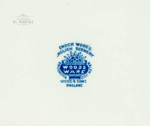 Plato ovalado azul y blanco Woods & Sons | 1