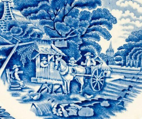 Plato azul y blanco Woods & Sons   1