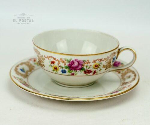 Taza y plato de porcelana Bavaria | 1