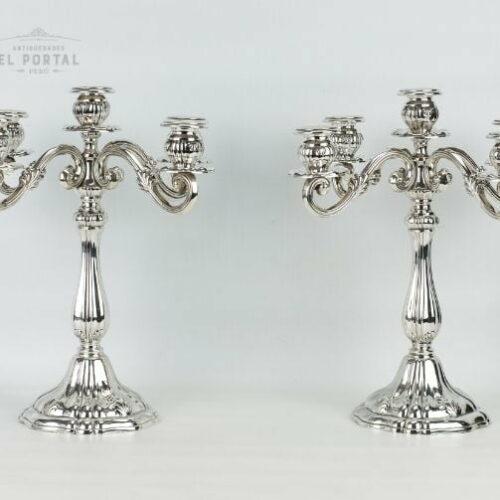 candelabro plata 925 San Agustin