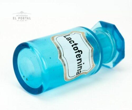 Frasco de botica de vidrio azul | 1