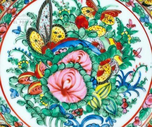 Plato oriental de porcelana esmaltada   1