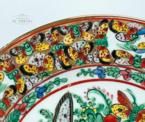 Plato oriental de porcelana esmaltada   2