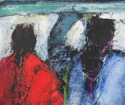 Arcadio Boyer Ramírez pintura al óleo Pescadora | 1